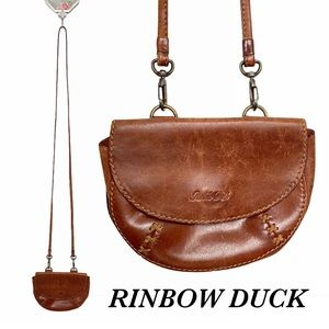 Vintage Rinbow Duck Leather Purse / Bag